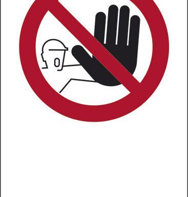 """(simbolo """"vietato l'ingresso"""" con spazio scrivibile)"""