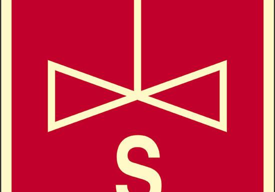 S (saracinesca) luminescente