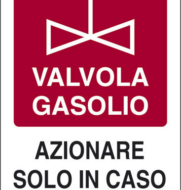 VALVOLA GASOLIO AZIONARE SOLO IN CASO DI INCENDIO