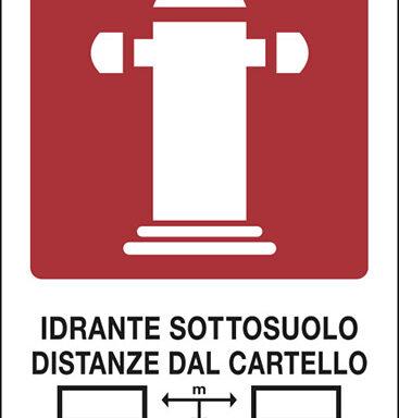 IDRANTE SOTTOSUOLO DISTANZE DAL CARTELLO m