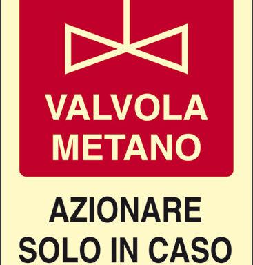 VALVOLA METANO AZIONARE SOLO IN CASO DI INCENDIO luminescente