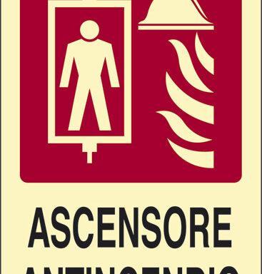 ASCENSORE ANTINCENDIO luminescente