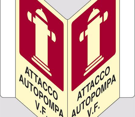 """ATTACCO AUTOPOMPA V.F. """"V"""" luminescente"""