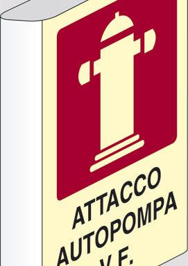 ATTACCO AUTOPOMPA V.F. a bandiera luminescente