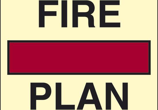FIRE PLAN (piano antincendio) luminescente