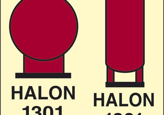 HALON 1301 (contenitori Halon 1301 posti in zona protetta) luminescente