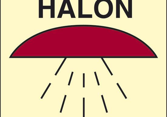 HALON (spazio protetto da Halon 1301) luminescente