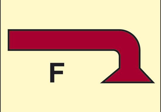 F (spazio protetto da schiuma) luminescente