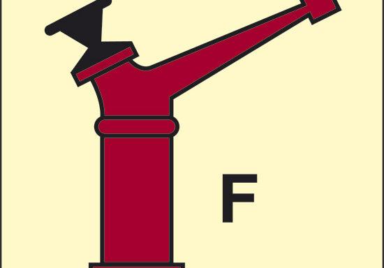 F (lancia a brandeggio erogatore schiuma) luminescente