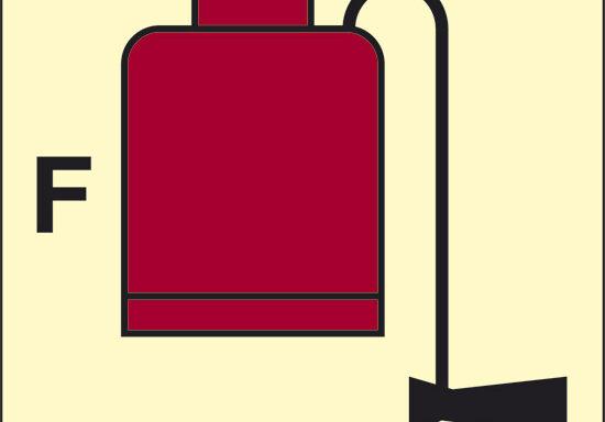 F (estintore portatile a schiuma) luminescente