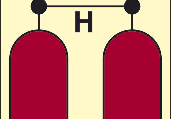 H (stazione rilascio Halon) luminescente