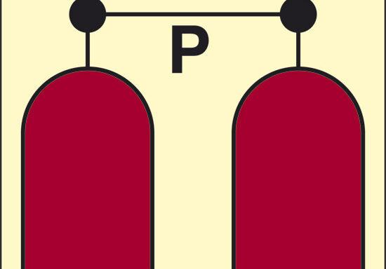 P (stazione rilascio polvere) luminescente