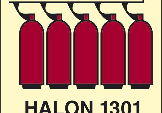 HALON 1301 (batteria Halon 1301) luminescente