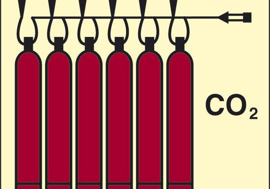 CO2 (batteria CO2) luminescente