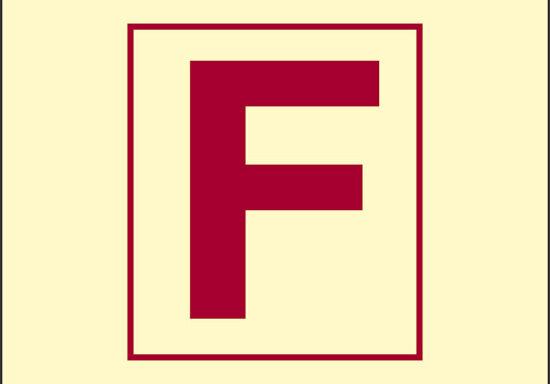 F (stazione antincendio) luminescente