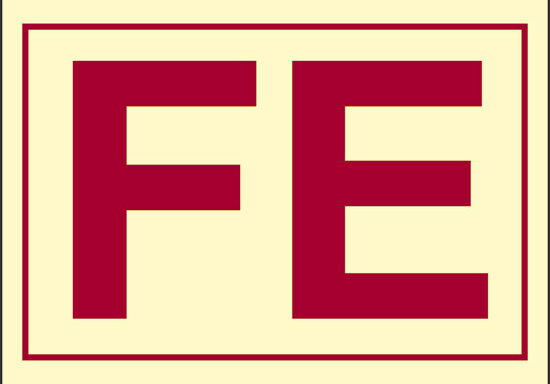 FE (armadietto con attrezzature per pompiere) luminescente