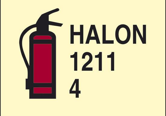 HALON 1211 4 (estintore ad Halon 1211) luminescente