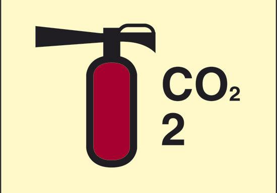 CO2 2 (estintore a CO2) luminescente