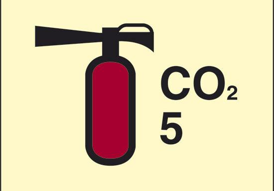 CO2 5 (estintore a CO2) luminescente