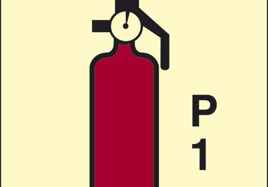 P 1 (estintore a polvere) luminescente