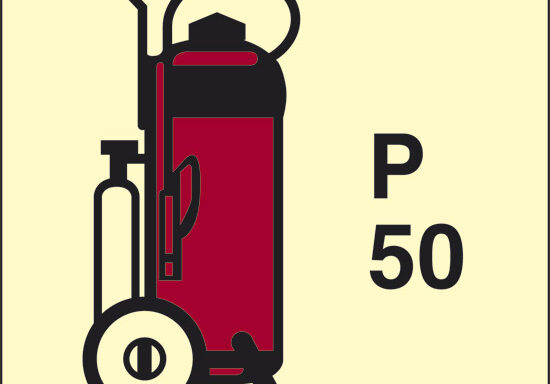 P 50 (estintore a polvere con ruote) luminescente