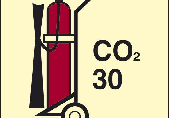 CO2 30 (estintore a CO2 con ruote) luminescente