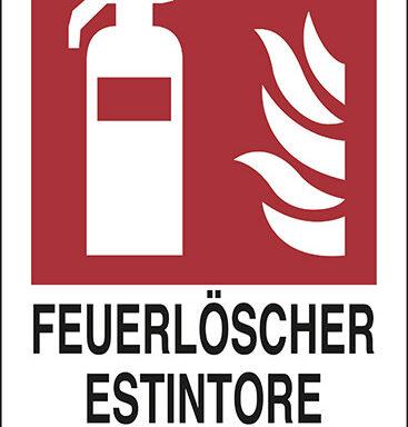 FEUERLOESCHER ESTINTORE Nr.