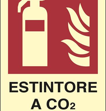 ESTINTORE A CO2 N° luminescente