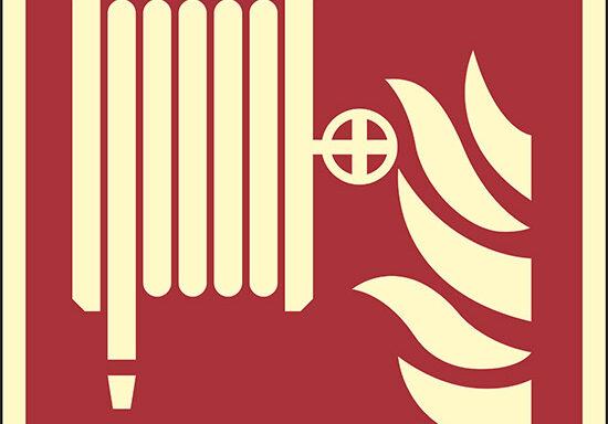 (lancia antincendio-naspo – fire hose reel) luminescente