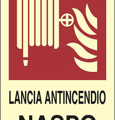 LANCIA ANTINCENDIO NASPO luminescente