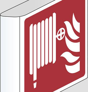 (lancia antincendio-naspo – fire hose reel) a bandiera