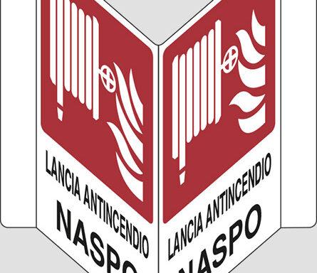 "LANCIA ANTINCENDIO NASPO ""V"""