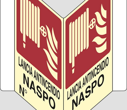 """LANCIA ANTINCENDIO NASPO N° """"V"""" luminescente"""