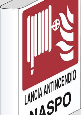 LANCIA ANTINCENDIO NASPO a bandiera