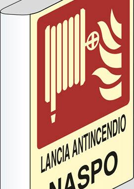 LANCIA ANTINCENDIO NASPO a bandiera luminescente