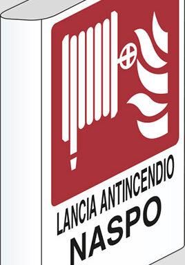 LANCIA ANTINCENDIO NASPO N° a bandiera