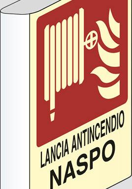 LANCIA ANTINCENDIO NASPO N° a bandiera luminescente