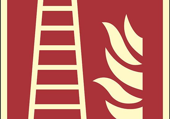 (scala antincendio – fire ladder) luminescente