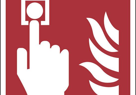 (allarme antincendio – fire alarm call point)