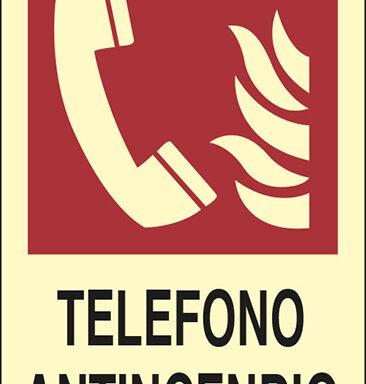 TELEFONO ANTINCENDIO  luminescente