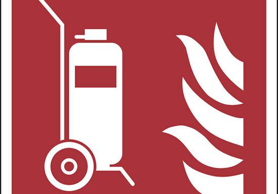 (estintore carrellato – wheeled fire extinguisher)