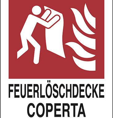 FEUERLOESCHDECKE COPERTA ANTIFIAMMA