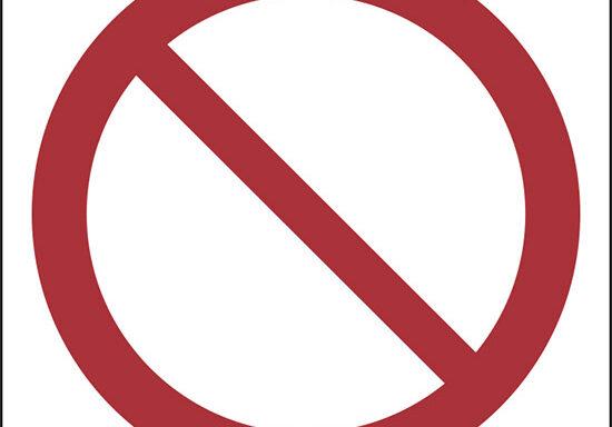 (divieto generico – general prohibition sign)
