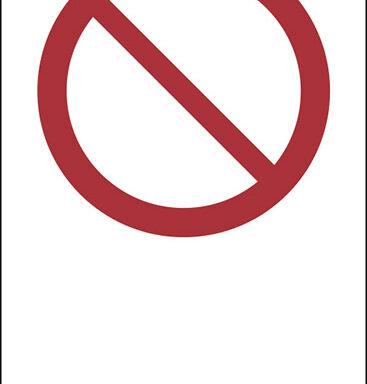 """(simbolo """"divieto generico – general prohibition sign"""" con spazio scrivibile)"""