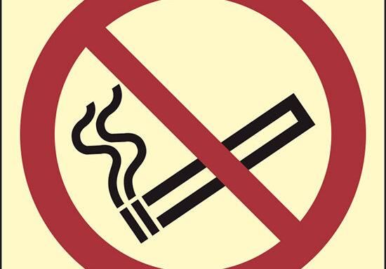 (vietato fumare – no smoking) luminescente