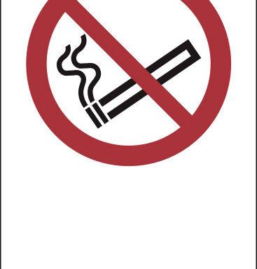 """(simbolo """"vietato fumare – no smoking"""" con spazio scrivibile)"""