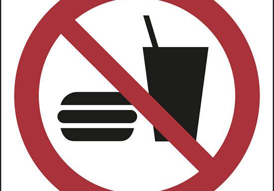 (vietato mangiare e bere – no eating or drinking)
