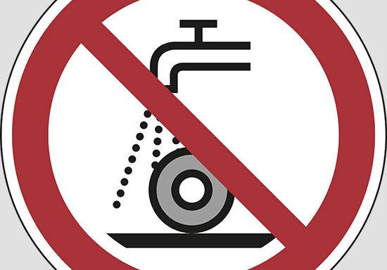 (do not use for wet grinding)