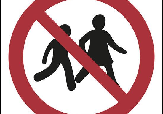 (no children allowed – proibiti i bambini)