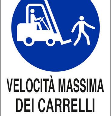 VELOCITÀ MASSIMA DEI CARRELLI 10 km/h